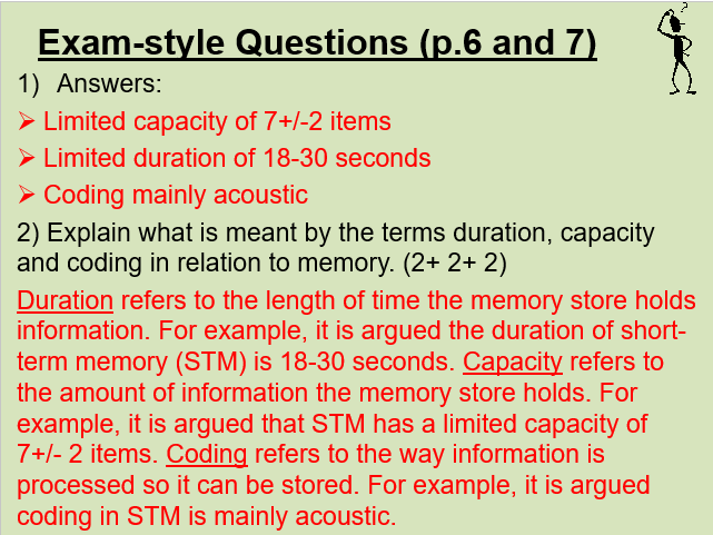 Memory PowerPoint (to accompany Booklet)