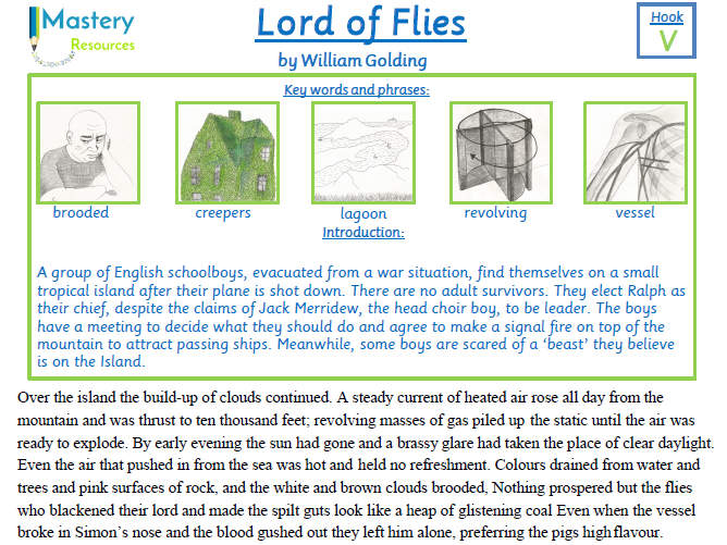 Lord of Flies by William Golding Comprehension KS2