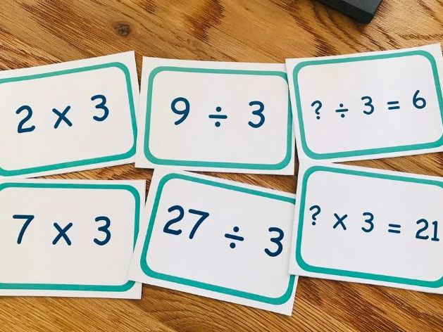 7 Times Tables Flashcards