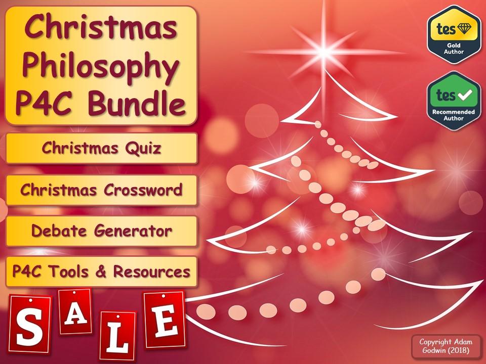 Economics P4C Christmas Sale Bundle! (Philosophy for Children) [Christmas Quiz & P4C] [KS3 KS4 GCSE]