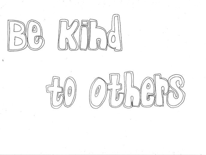 Be Kind to Others: Classroom Rules Colouring Page