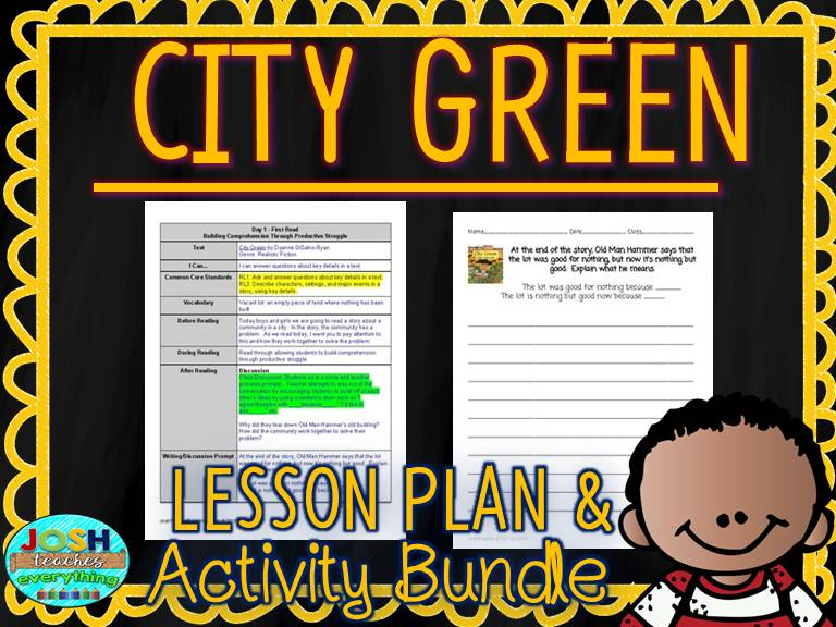 City Green by Dyanne DiSalvo-Ryan Lesson Plan and Activities