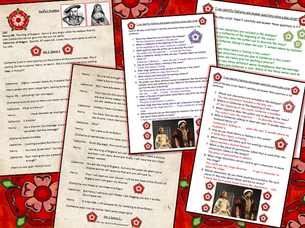Tudor Play-script Comprehension Catherine of Aragon and Henry VIII