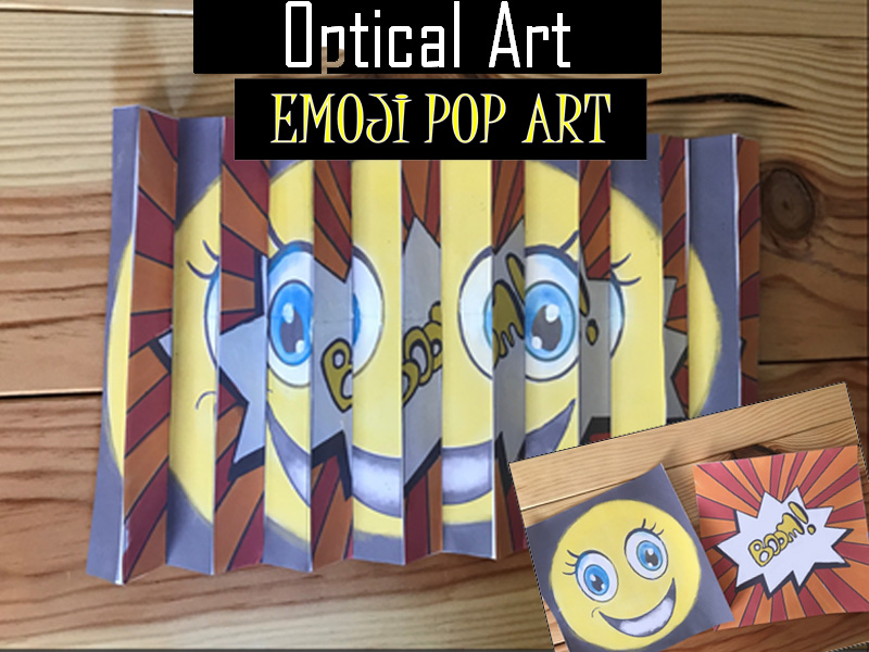 Optical illusion activity Emoji Pop Art