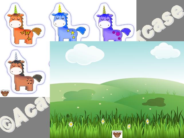 Reward counting chart - unicorns and field