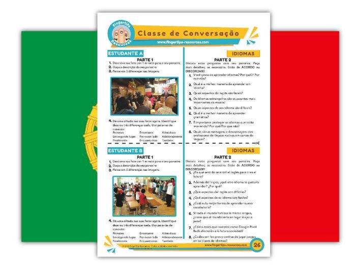 Idiomas - Portuguese Speaking Activity