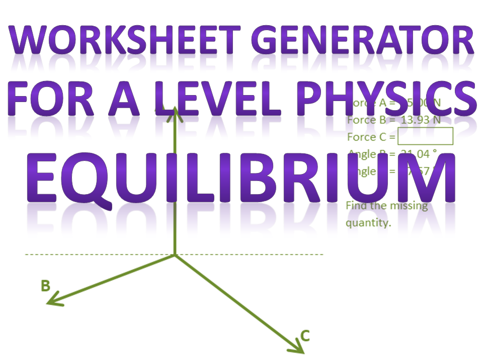 Force in Equilibrium question generator