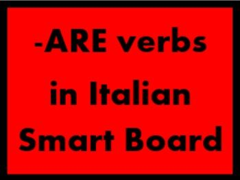 ARE Verbs in Italian Verbi ARE Game board for Smartboard