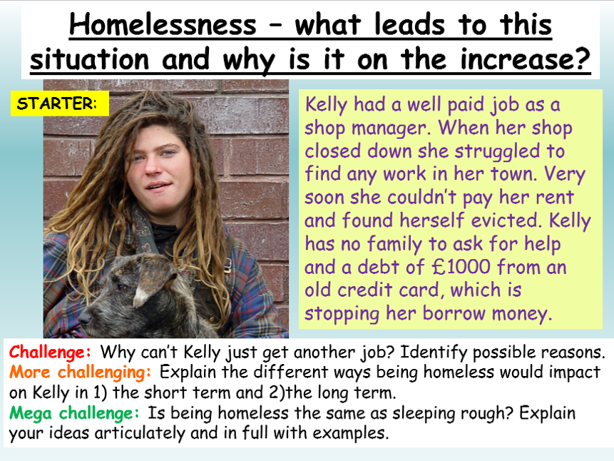 Homelessness - Being Homeless PSHE