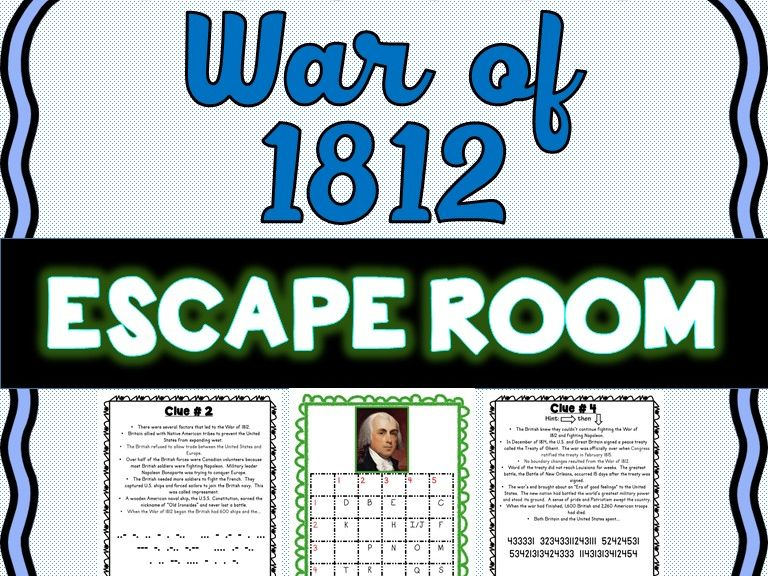 War of 1812 Escape Room : James Madison, Impressment