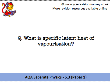Revision Cards - AQA Separate Physics 6.3