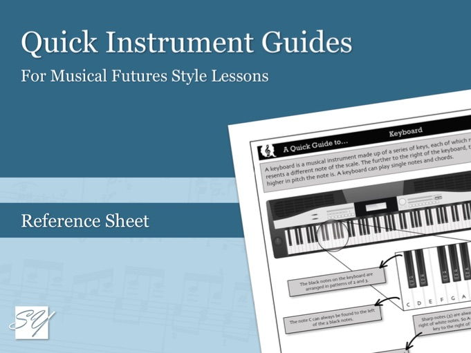 Quick Instrument Guides – Great for Musical Futures Style Lessons