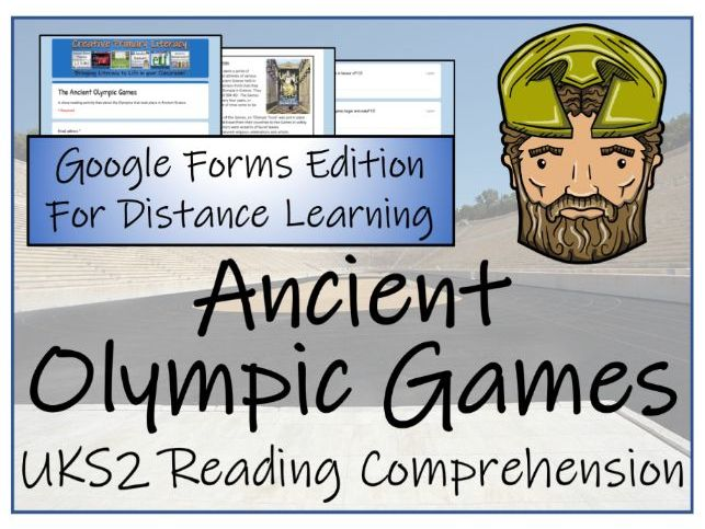 UKS2 Ancient Olympics Reading Comprehension & Distance Learning Activity