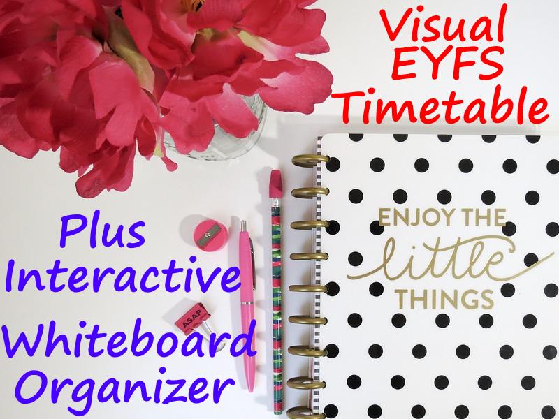 EYFS Visual Timetable + Interactive Whiteboard Organiser