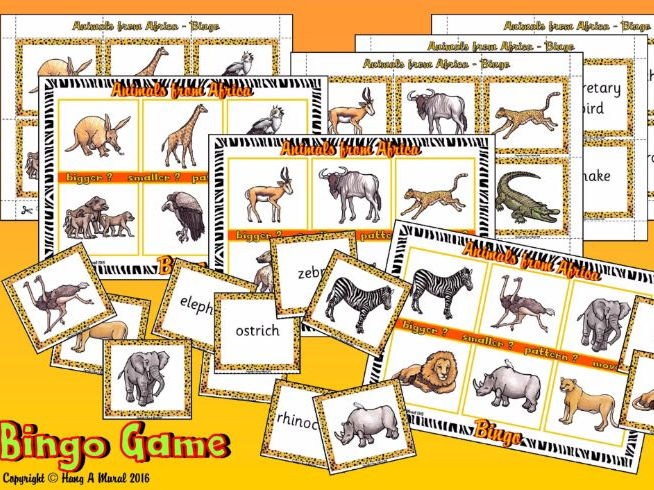 African Safari Bingo