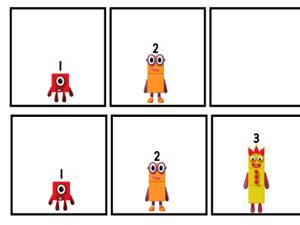 Numberblocks 1-5 Missing Number Tracks