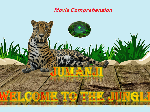 Jumanji Welcome to the Jungle 2017  Movie Quiz / Comprehension worksheet with key