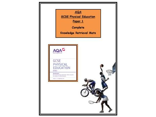 GCSE PE – AQA - Complete Booklet of Paper 1 Knowledge Retrieval/Revision Mats