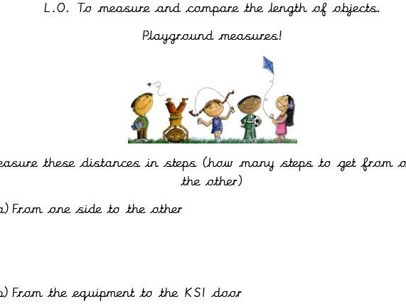 Maths - Playground measures