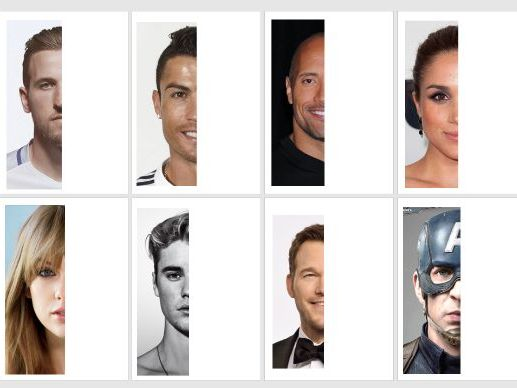 Celebrity symmetry  art lesson