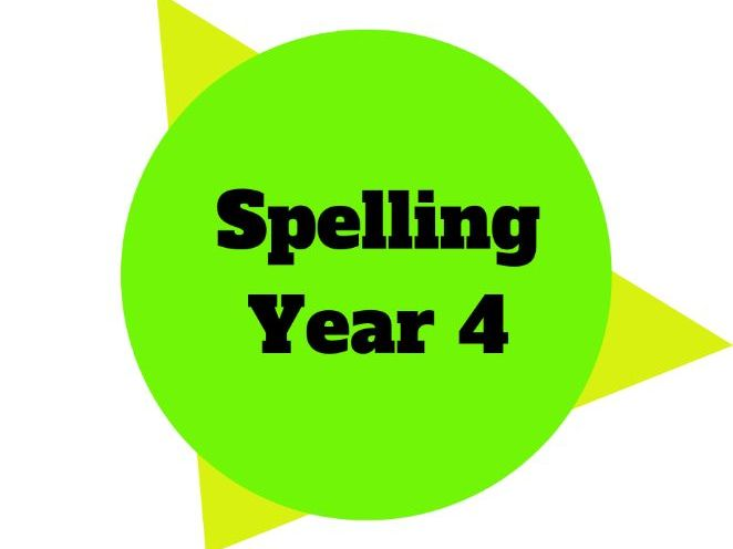 Year 4 - Year Plan - Spelling