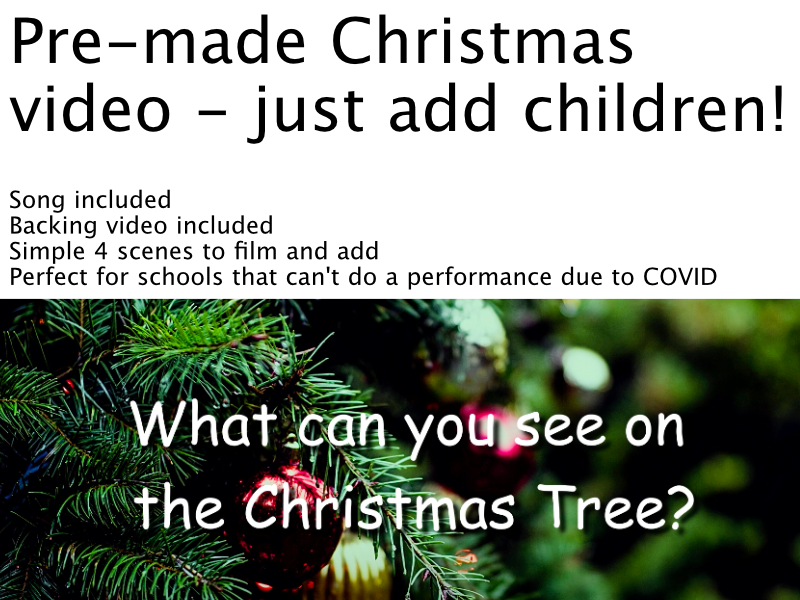 Christmas Tree Backing Video for Class Sharing