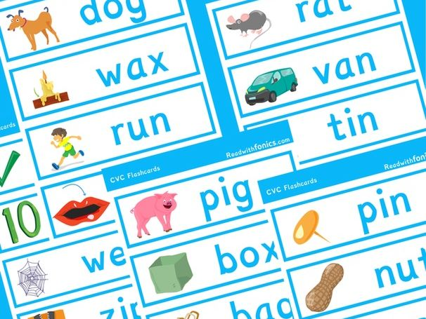 Phonics CVC Flashcards with Pictures | Phonics Resources| EYFS | Year 1 | 9 Pages