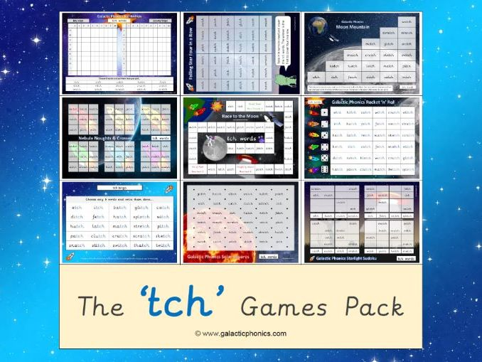The 'tch' Phonics Games Pack