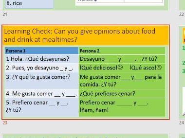 Viva 2 Module 3.2 Que desayunas - 2 lessons
