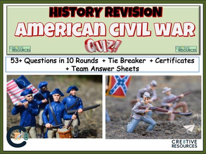 The American Civil War History Quiz