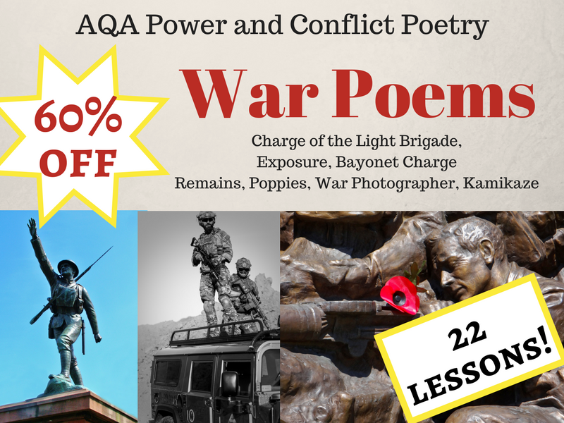 War Poems Unit - AQA Power and Conflict - Low and Middle Ability