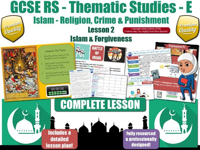Forgiveness & Mercy - Islamic Teachings & Muslim Views (GCSE RS - Islam - Crime & Punishment) L2/7