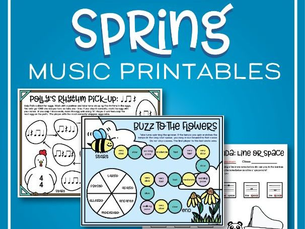 Spring Music Worksheets and Games