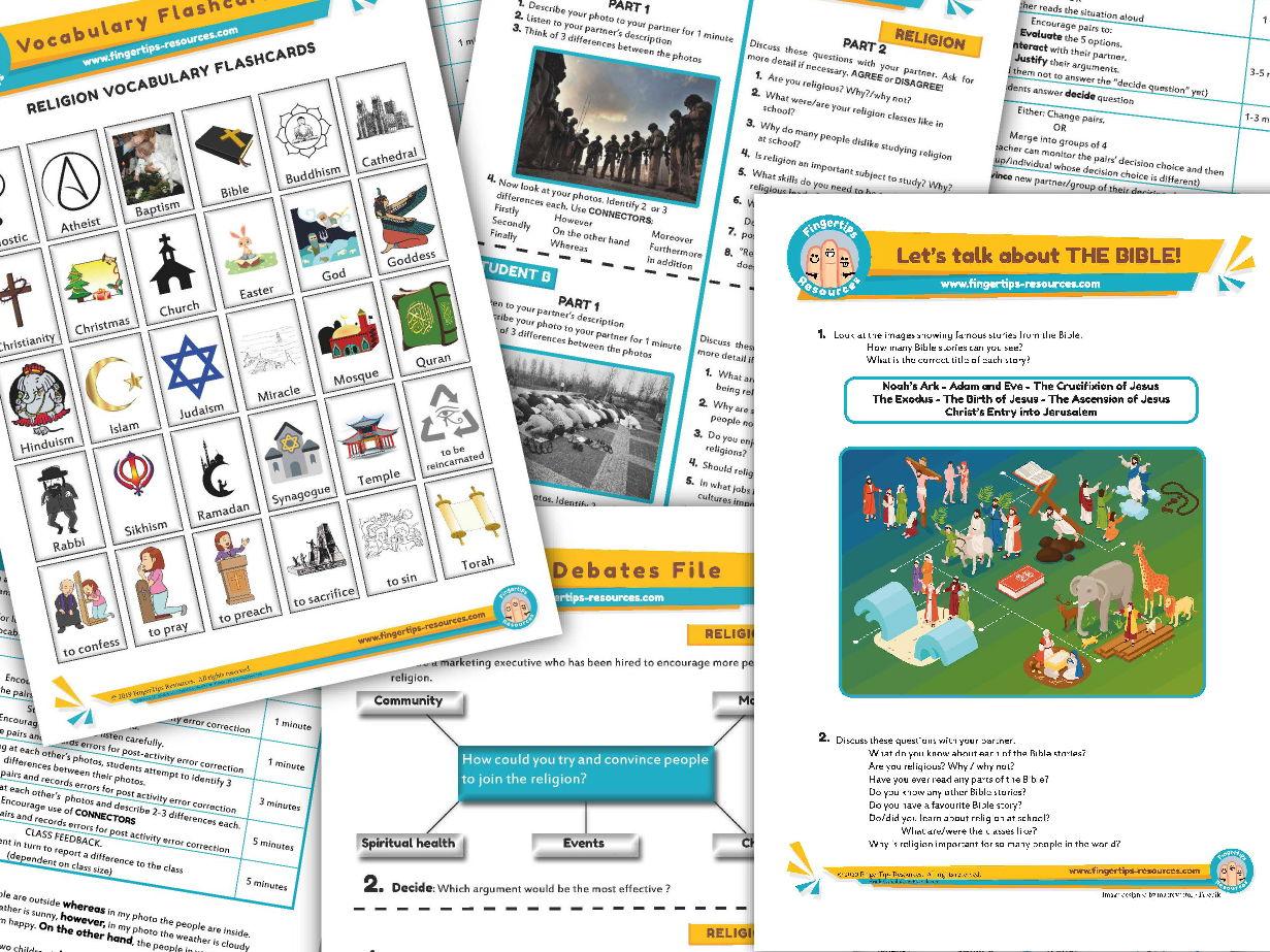 Religion & Faith Unit - ESL Activity Bundle