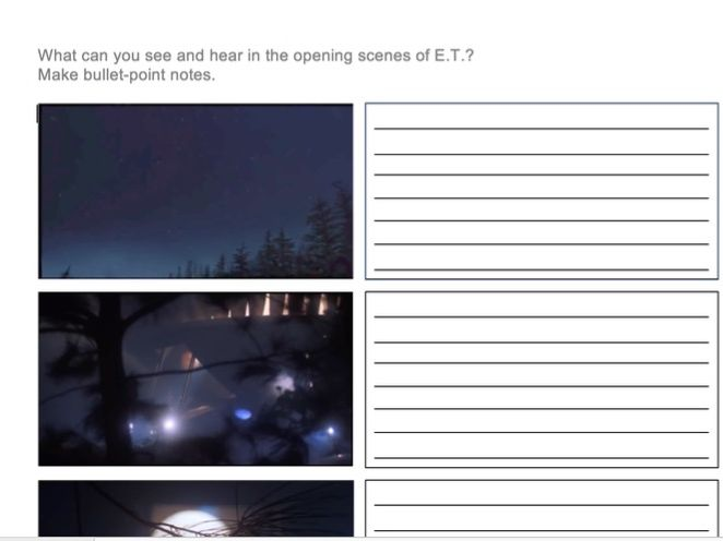 English: How Screenwriters Create Suspense (KS2), using E.T. as a case study