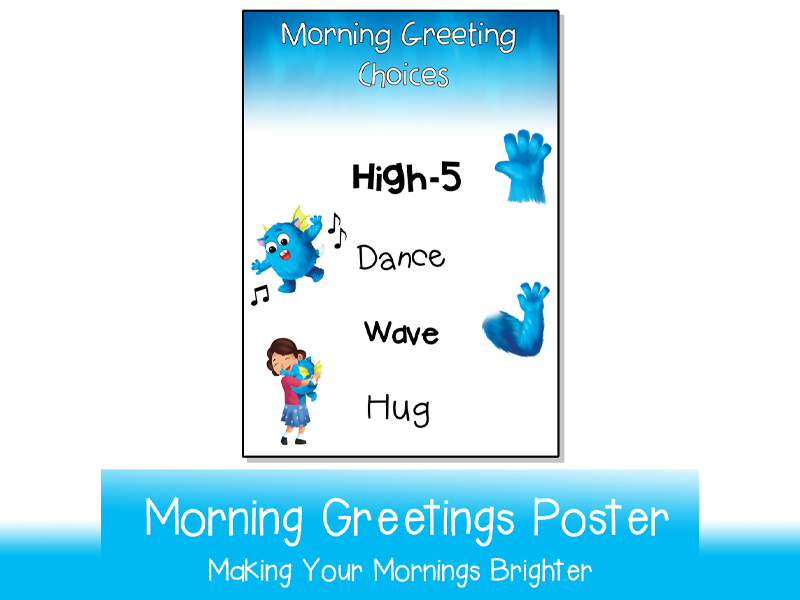 Morning Greetings Poster  | Printable A3 and A4 + Non Contact Edition