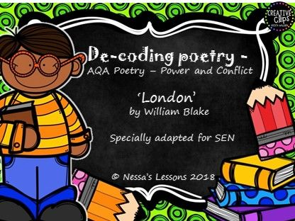 'London' for SEN AQA GCSE Power and conflict - De-coding poetry