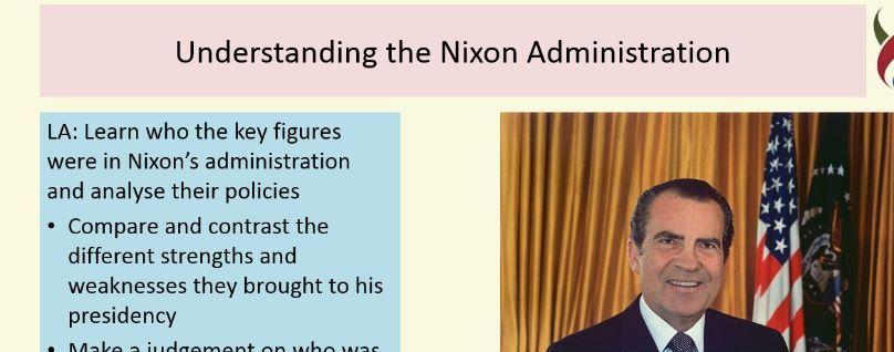 Understanding the Nixon Adminstration 1968