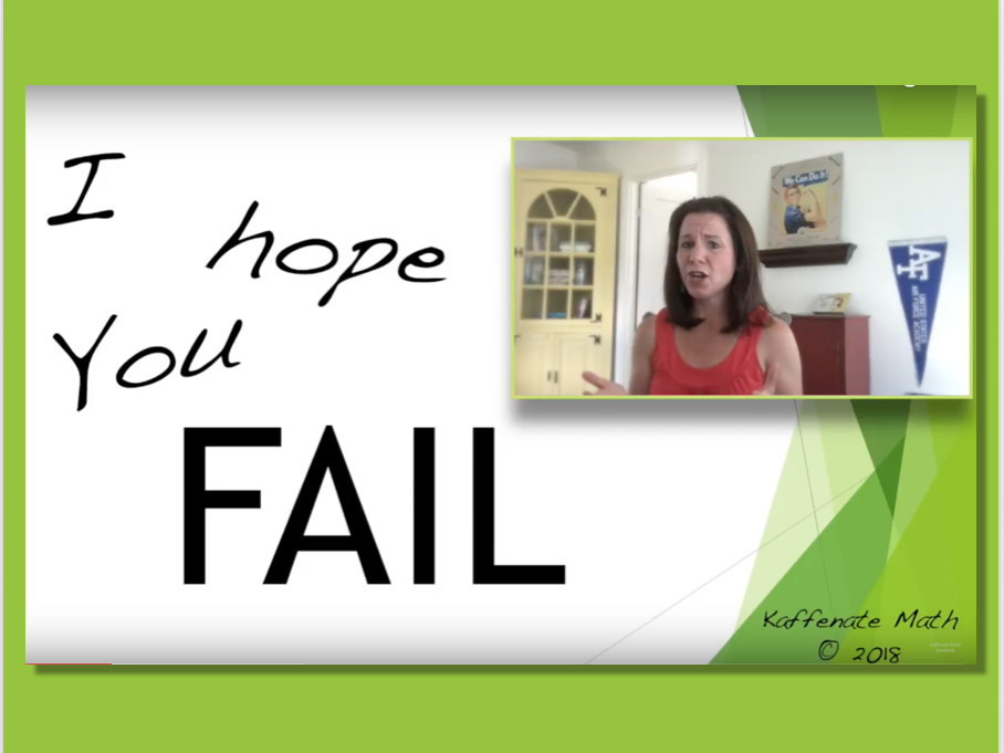 I hope you F.A.I.L.     VIDEO and Worksheet Activity