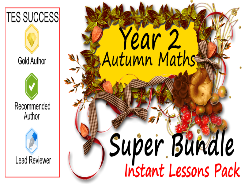 Year 2 Autumn Maths Lessons Bundle