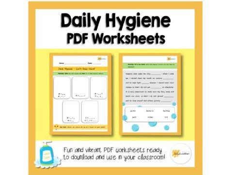 Daily Hygiene | Keeping Clean | PDF Worksheet | KS1 | PSHE
