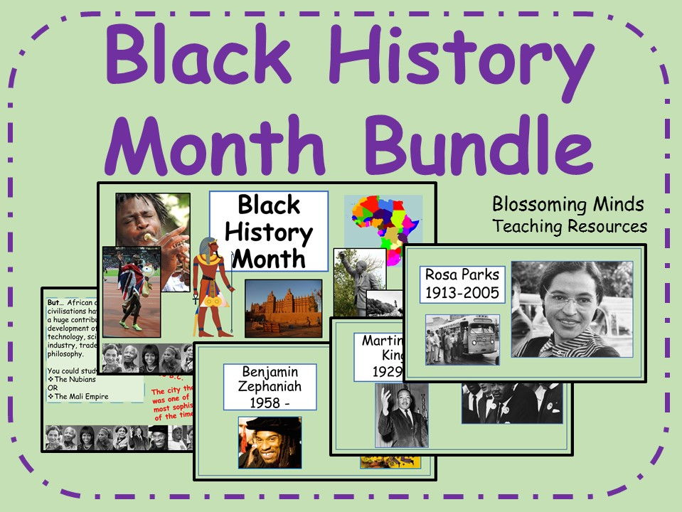 Black History Month Presentation and Assembly Bundle