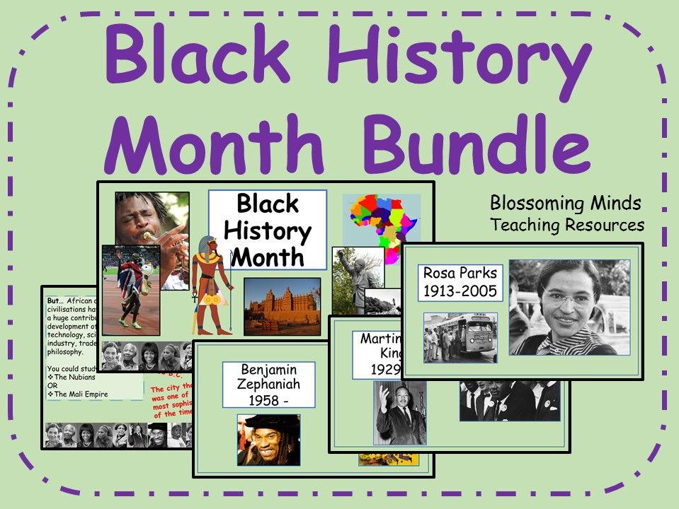 Black History Month Presentation and Assembly Bundle