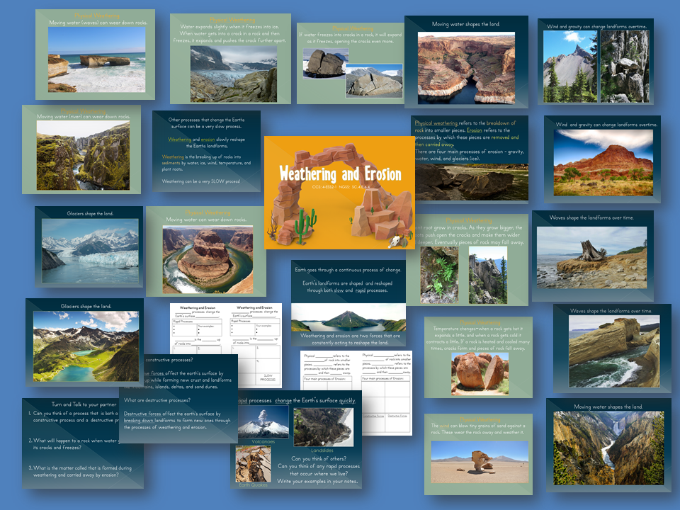 Weathering and Erosion PowerPoint and Interactive Student Notebook Lesson