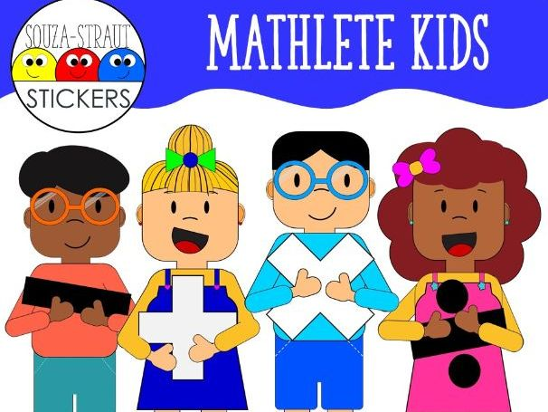 Mathlete Kids Clip Arts