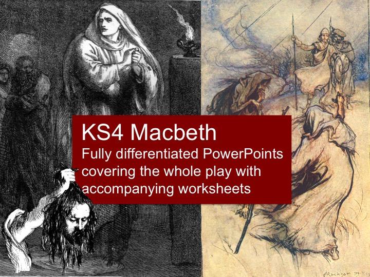 KS4 Macbeth PowerPoint Lesson Bundle