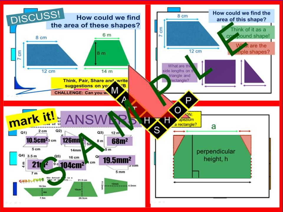 Area of Trapezium (2 Lessons)