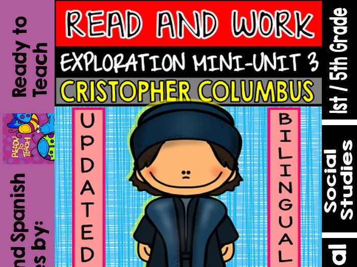 Exploration Mini-Unit 3 - Christopher Columbus - Read and Work - Bilingual