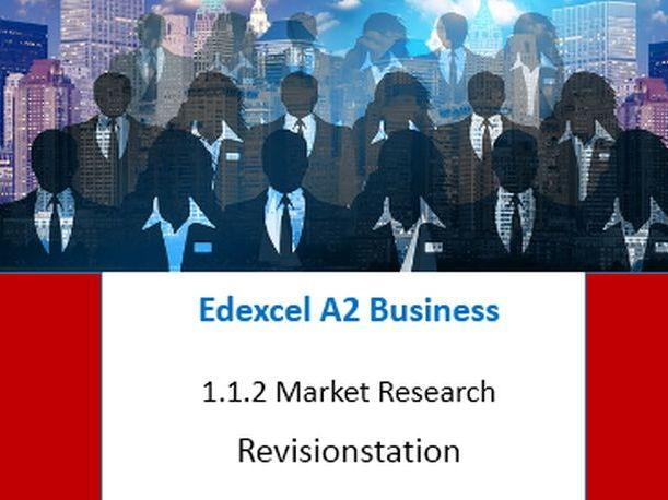 Edexcel A Level Business Theme 1 (112) Market Research