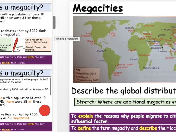 Megacities Lesson  (KS3)